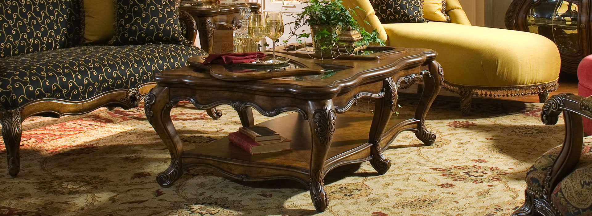 michael amini furniture designs cocktbl header coffee table accent pieces wide selection offered myriad distinctive from around the world includes tables wall art sculptures