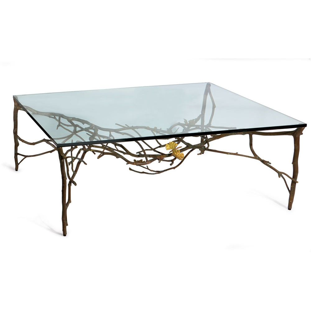michael aram butterfly ginkgo disenos que reflejan glass accent table explore top coffee tables and more metal end stool oval cover ethan allen chippendale dining chairs coral