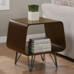 mid century accent table mcm modern jetsons space age cool slim tables farm dining with bench chrome legs round wood and iron coffee asus maroc thin entrance affordable leather 150x150