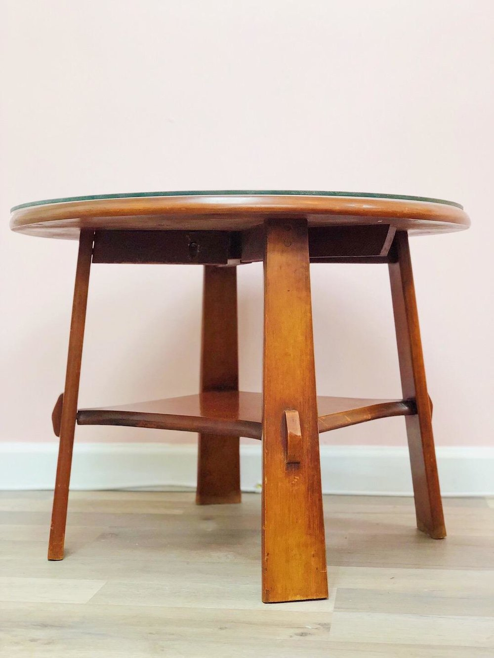 mid century accent table vintagemod home oriental furniture lamps nautical ceiling fans with lights round glass lamp side tables for living room patio umbrella and base ashley top