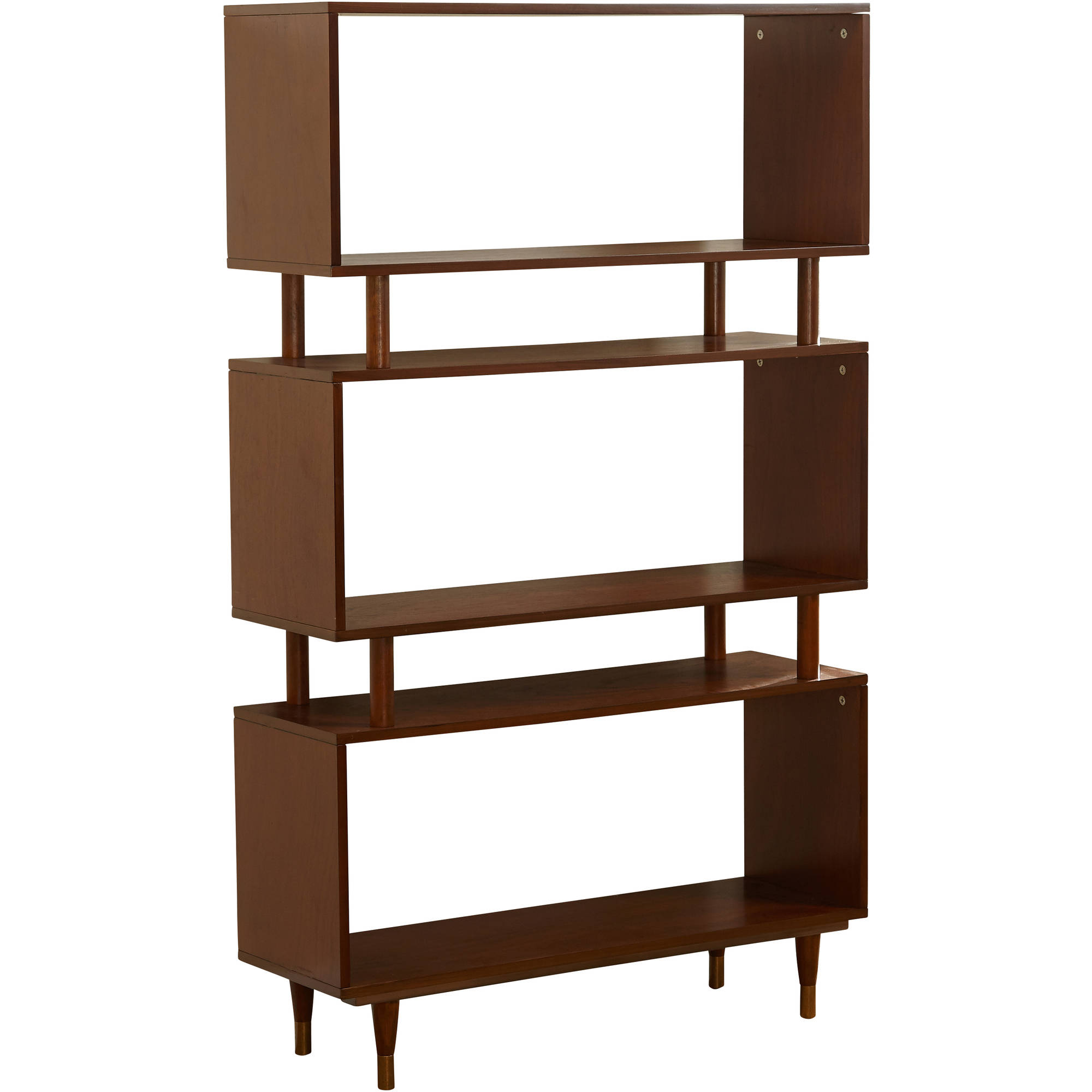 mid century bookshelf home furniture decor accent storage organizer new metal accents for safavieh console table small entryway with drawer unfinished wood white end tall coffee