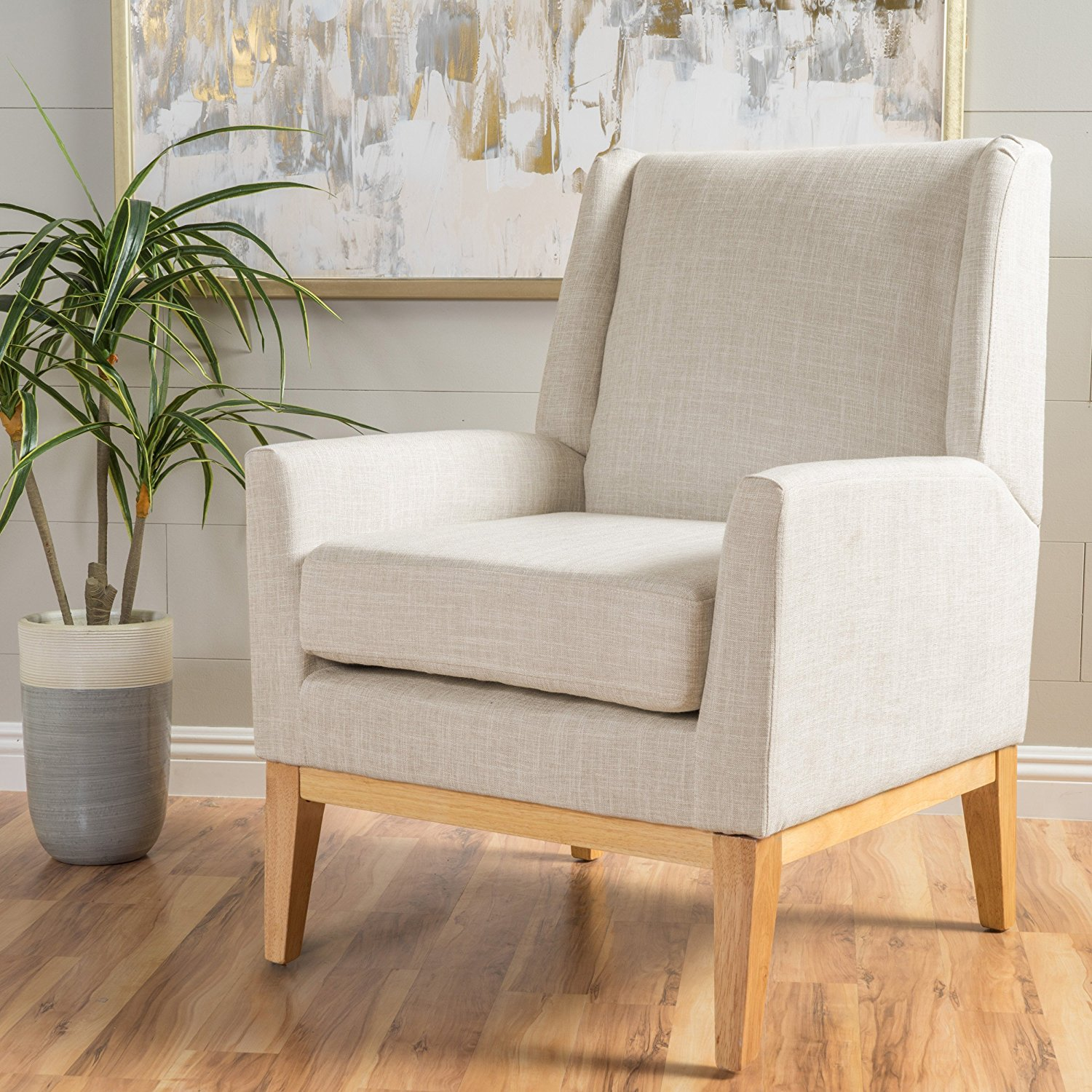 mid century modern contemporary living room chairs archibald fabric accent chair beige armchair small bistro table set black glider gray office custom made slipcovers for and