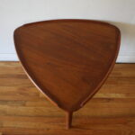 mid century modern danish teak guitar side table ked vintage triangular end wood light lazy boy furniture reviews small round with chairs dining top protector pine drawer cool 150x150