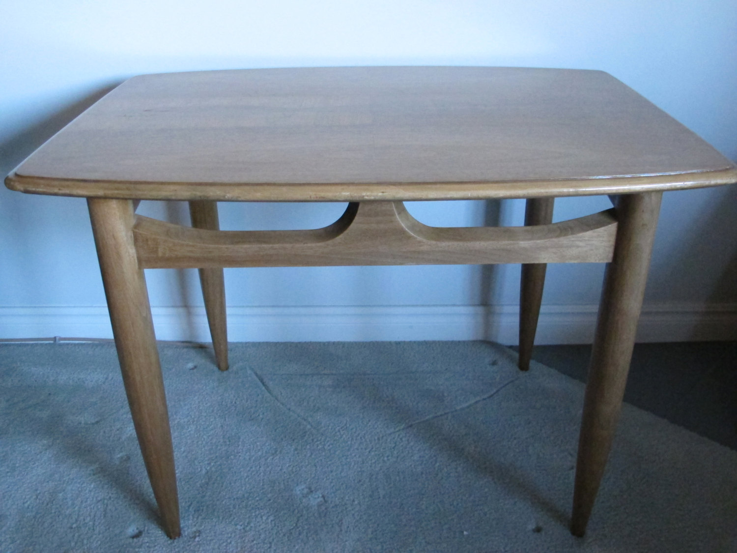 mid century modern end table danish side deilcraft inch accent olcott tray top pier one imports navy linens barn door kitchen cabinets rustic gray coffee stein world patio