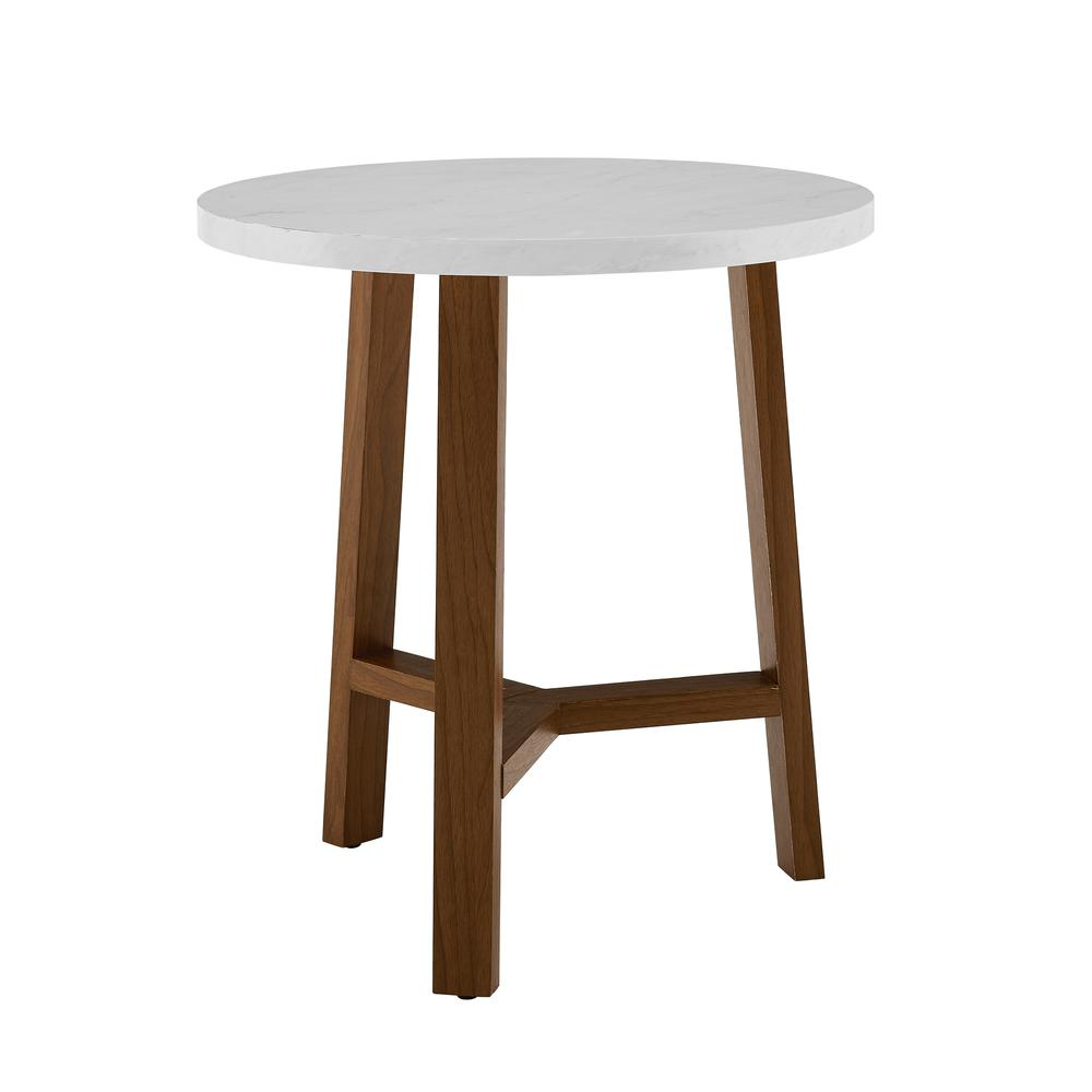 mid century modern round accent side table white marble and acorn villa furniture green top carpet threshold transition strip inch silver tray runner quilt kits console large