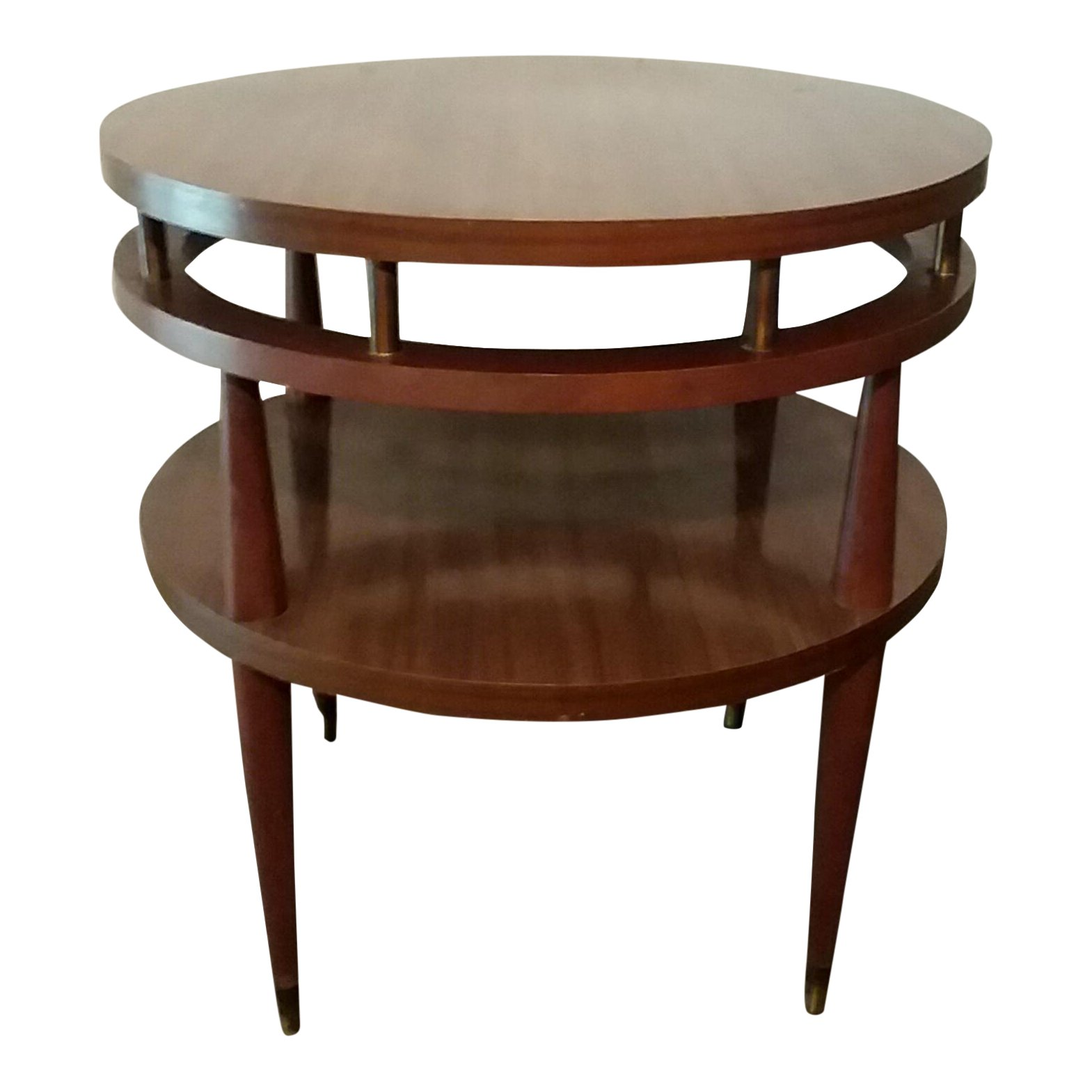 mid century modern round accent table chairish high top dining for glass coffee with brass legs antique serving outdoor patio bench rustic end target makeup bedroom nightstand