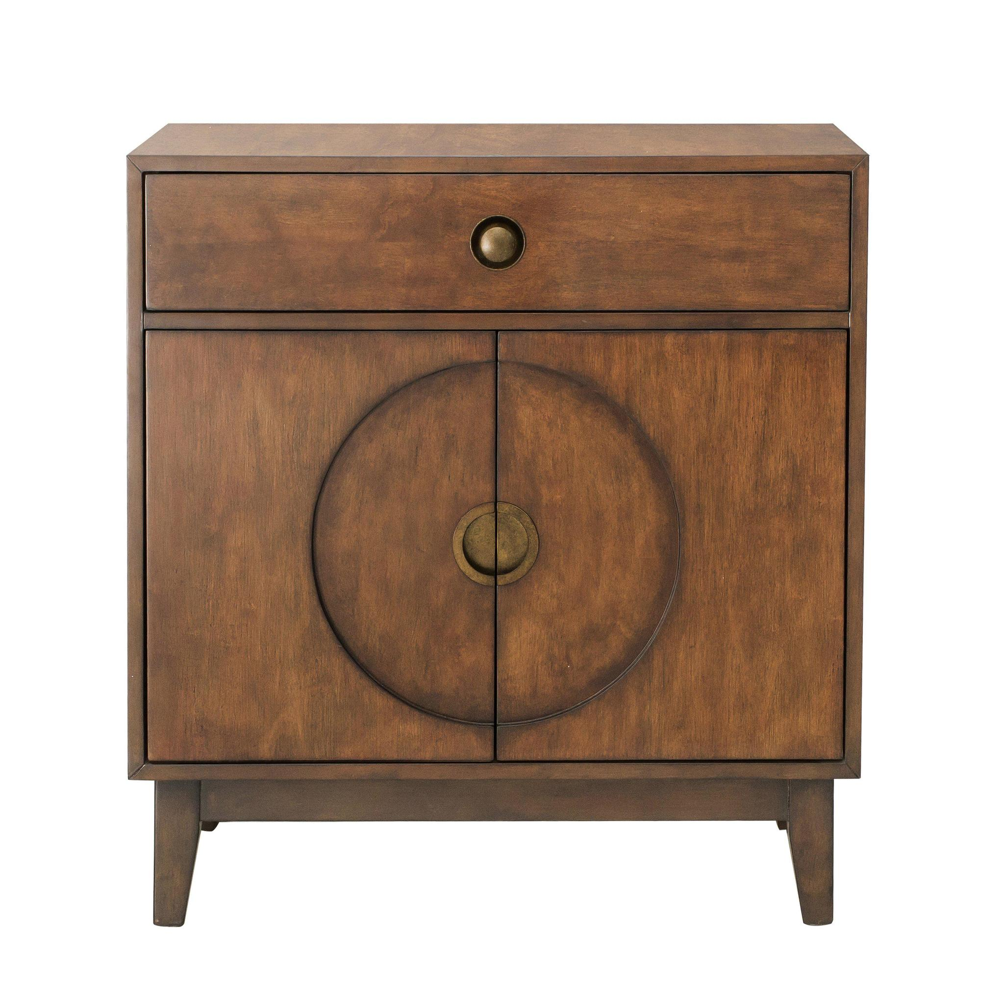 mid century modern walnut accent chest cabinet table parker gwen metal drum high top dining for mango wood end patio furniture clearance heavy duty throne target dinosaur bedding
