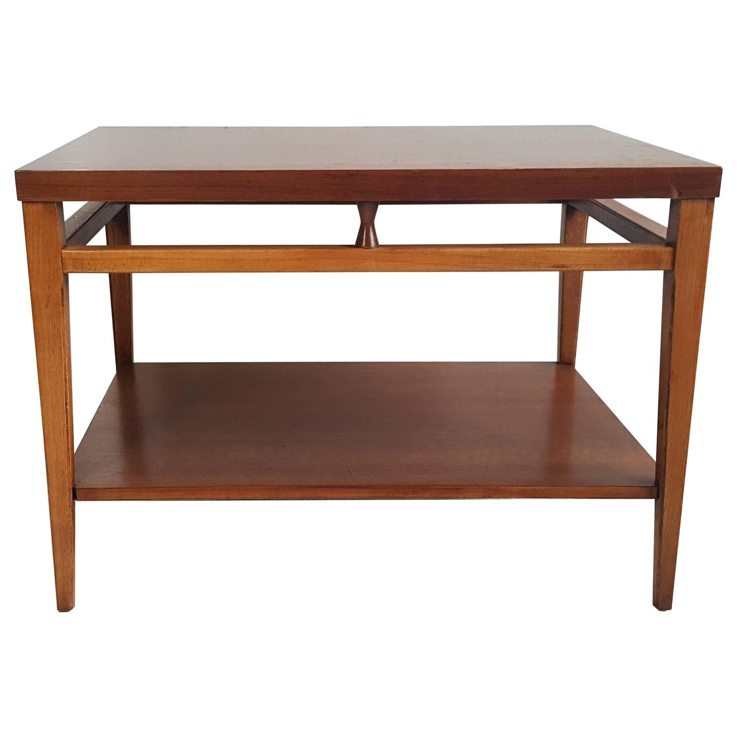 mid century modern walnut and rosewood end table quottuxedo antique accent olcott tray top grey coffee ikea floating shelves mirrored sofa silver patio furniture toronto side