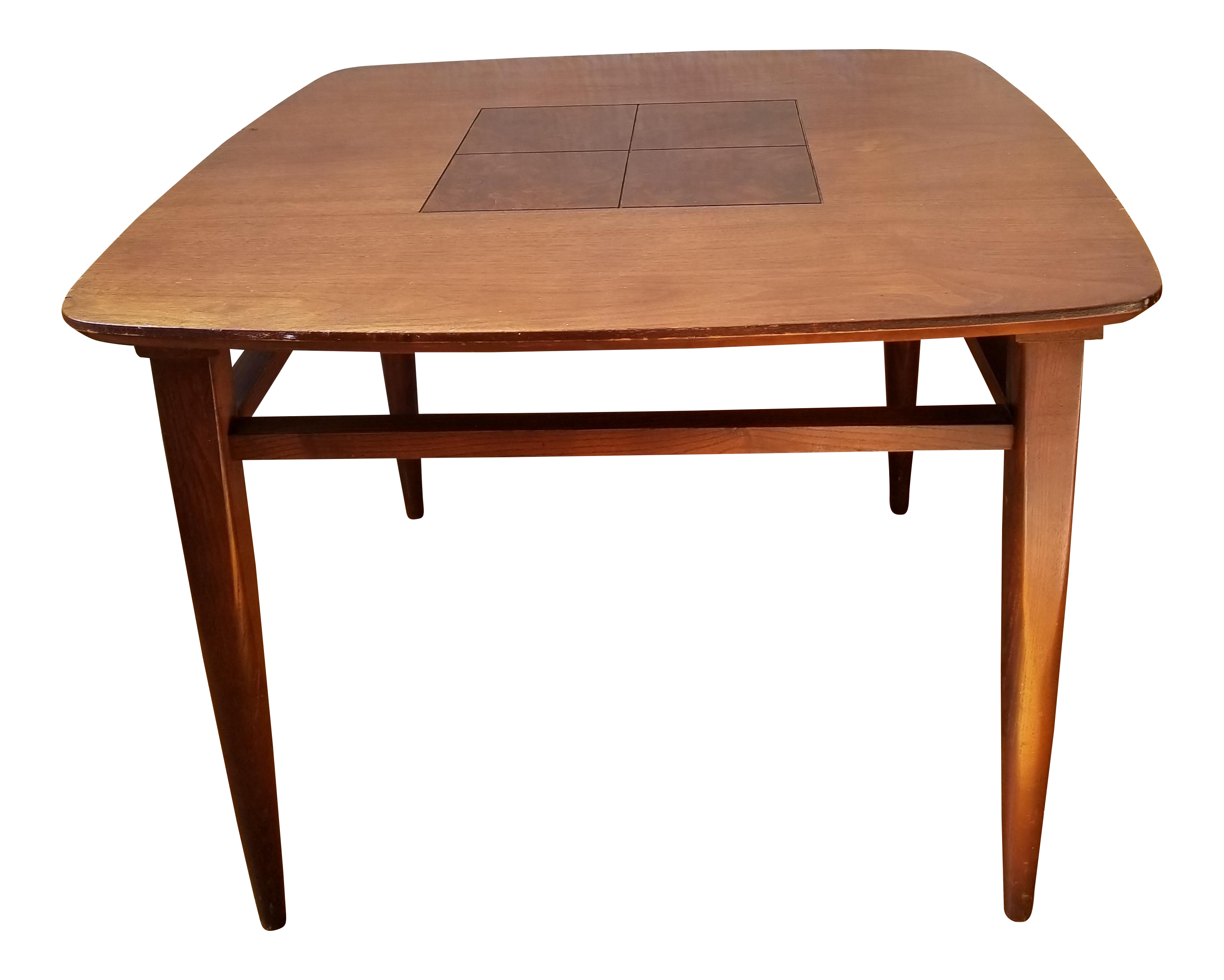 mid century modern wood inlay large accent side table chairish ikea fabric storage metal patio glass top coffee and end tables nautical bathroom lighting pier one coupon code