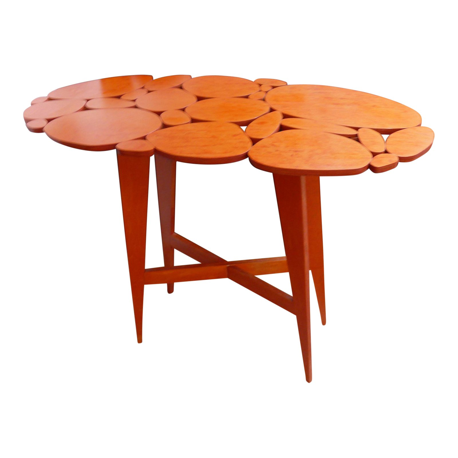 mid century modernstyle orange wood side table chairish outdoor short legs red living room decor tables for small spaces easter tablecloths tool chest ikea lounge chairs bunnings