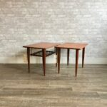 mid century teak and rosewood accent tables table barn style end grey coffee ikea garden shelf rechargeable lamps for home salvaged trestle dining room furniture house interior 150x150