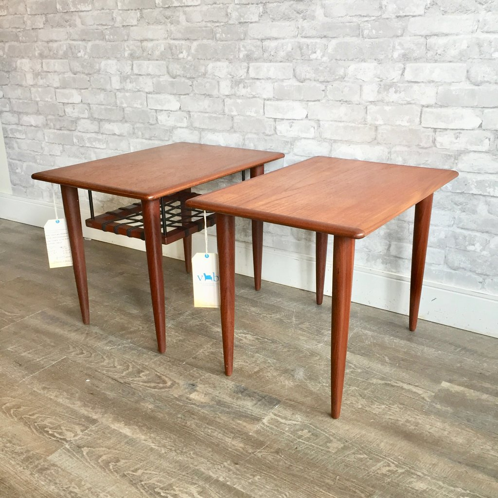 mid century teak and rosewood accent tables table dark brown coffee set small grey sitting room chairs turquoise bedside lamps essentials desk cool sofa side height counter