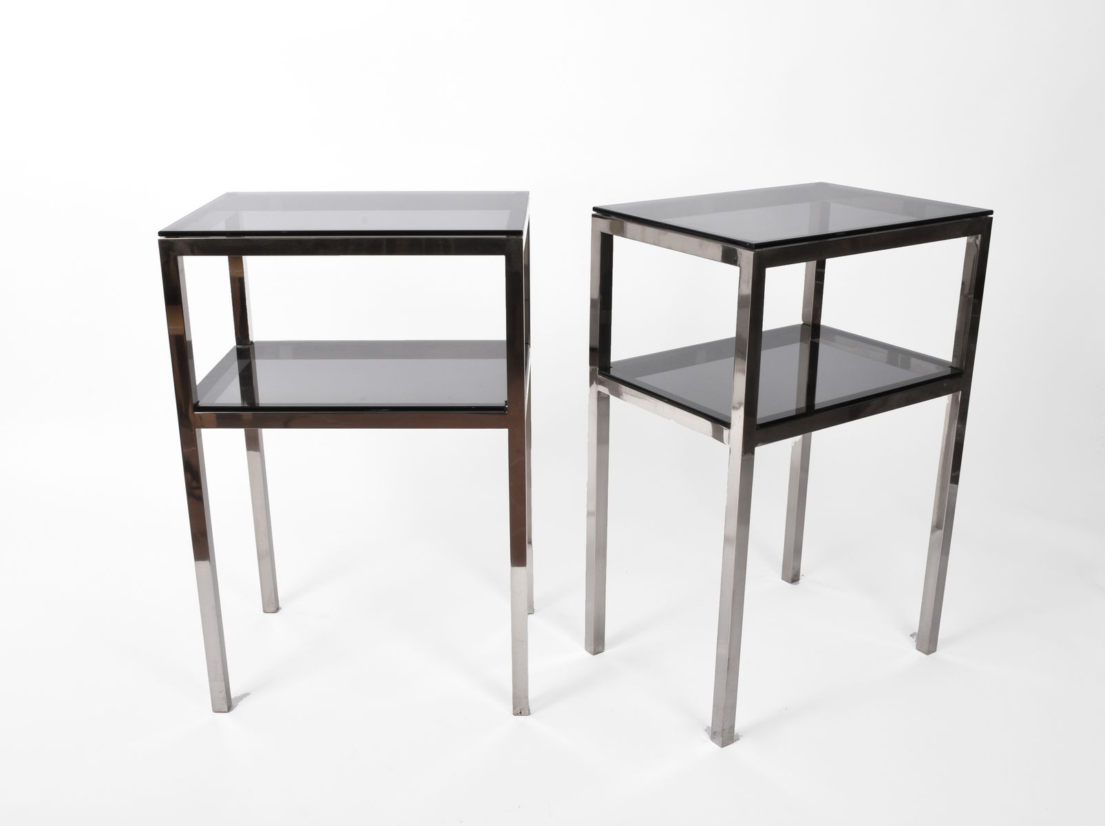 mid century two tiered accent tables set for pamono table pub style dining cabinet living room with storage kitchen side lace runners marble coffee round folding white concrete