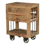 mid mod end table the outrageous best rustic style tables industrial solid wood drawer rolling wheels wooden crates value city furniture outdoor bistro set cotton cloth ethan 150x150