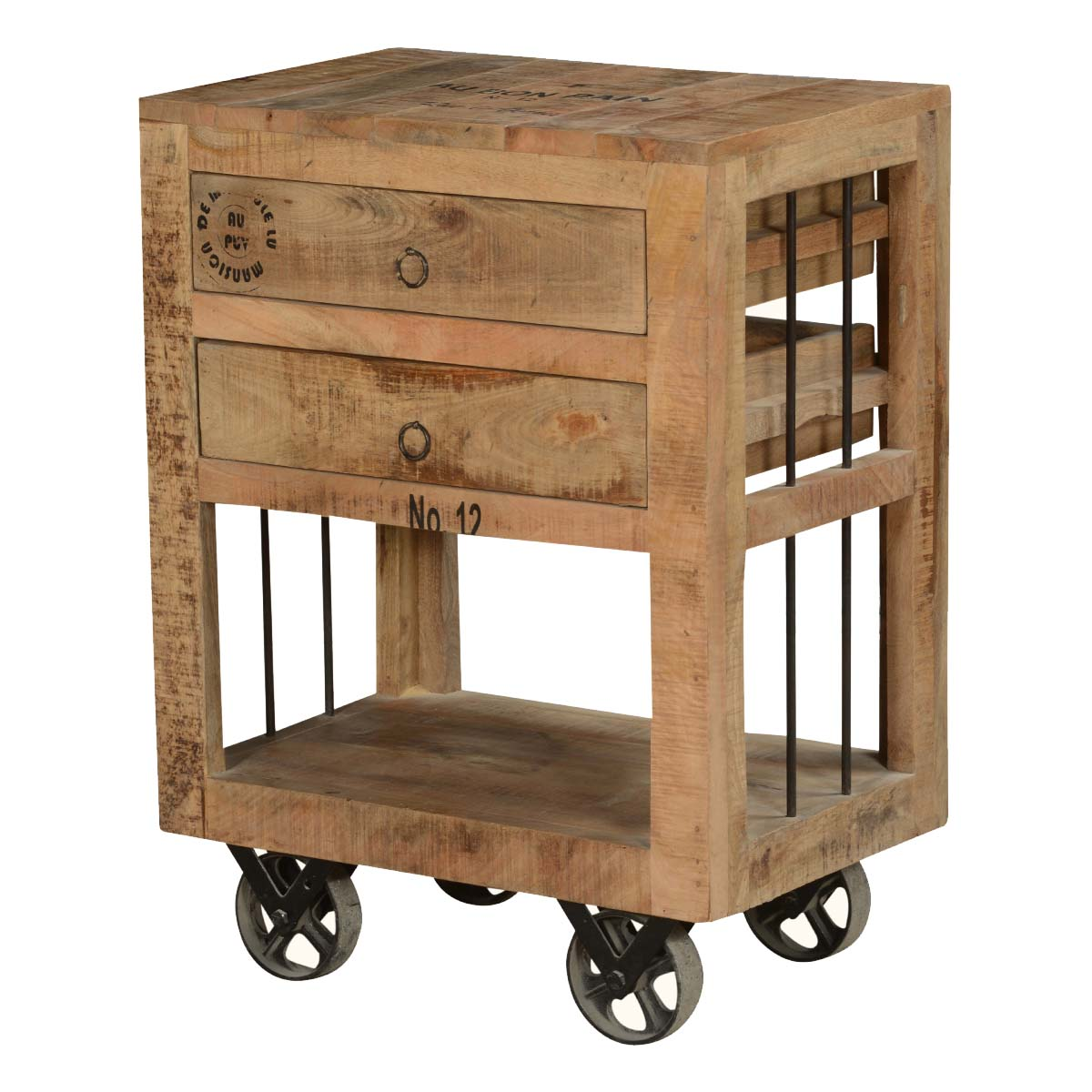 mid mod end table the outrageous best rustic style tables industrial solid wood drawer rolling wheels wooden crates value city furniture outdoor bistro set cotton cloth ethan