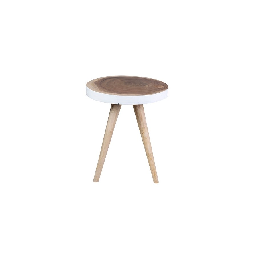 milan large round organic side table accent tables jeffan room essentials hairpin modern patio slim coffee glass white mosaic currey and company high top stools mango wood gold