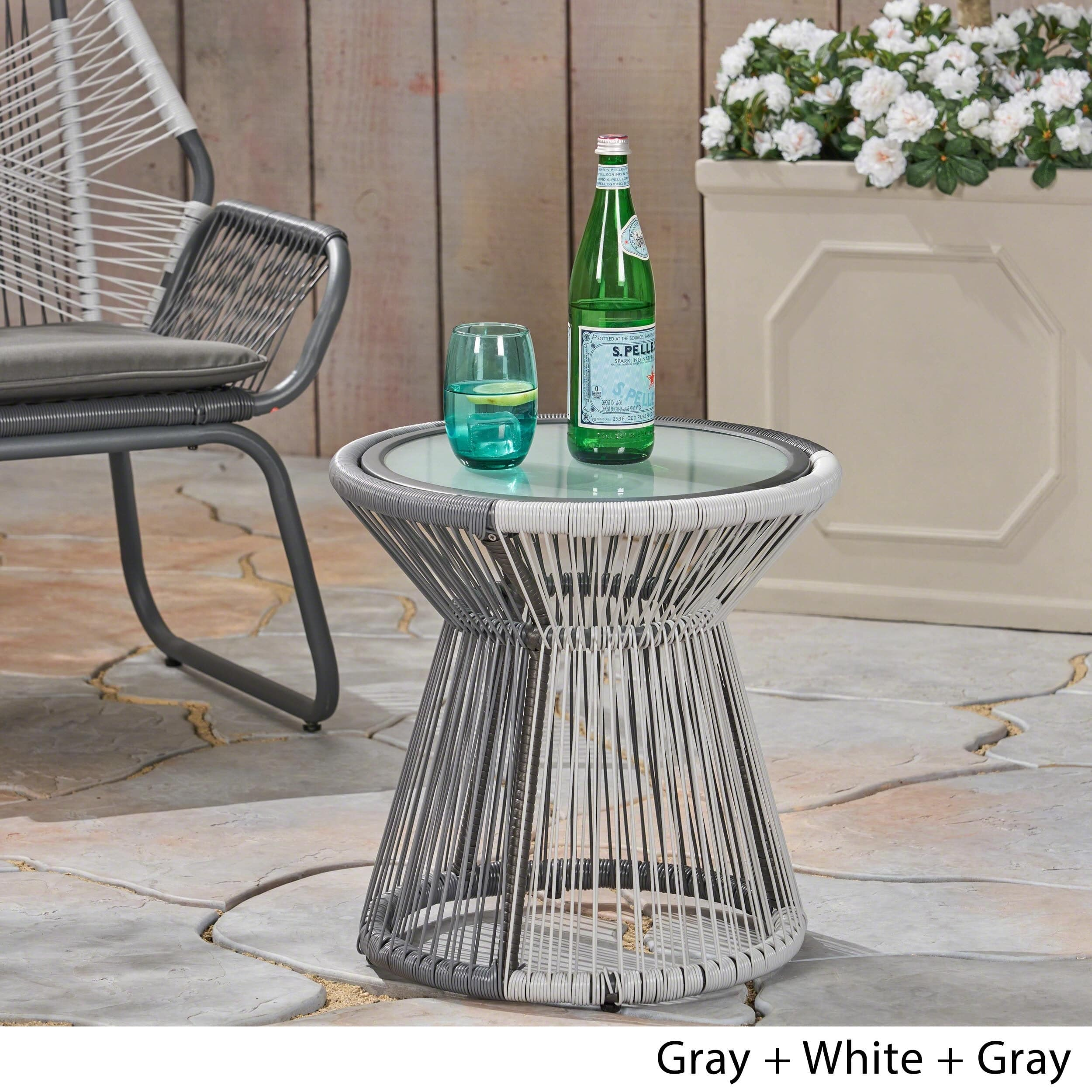 milan outdoor side table with glass top christopher knight home free shipping today nice design tea currey and company small wood nightstand coffee tables sofa patio chairs