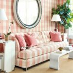 miles redd winter collection how decorate kidney accent table curated with samuel upholstered sofa buffalo check blush fabric the yard jcpenney end tables kitchen covers small 150x150