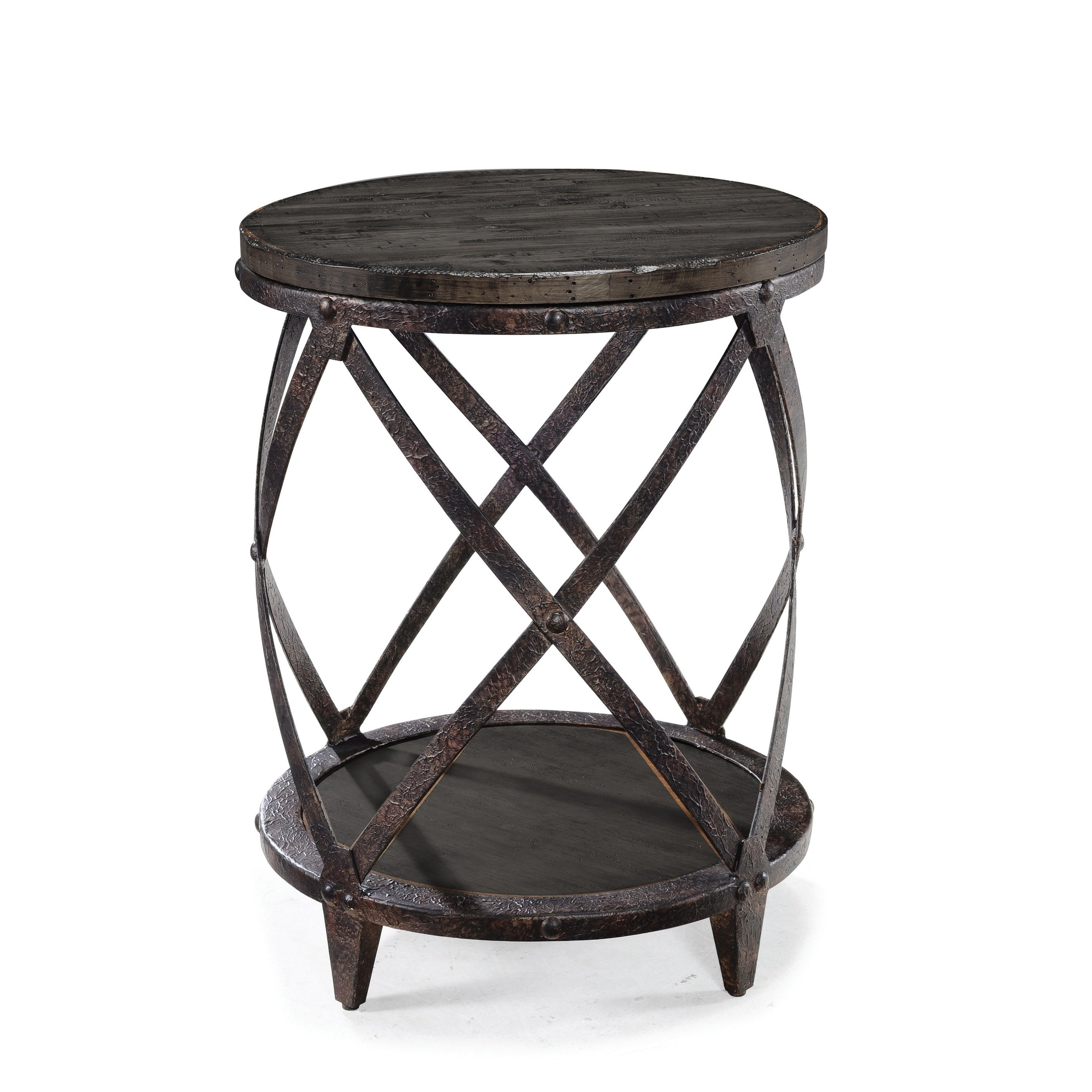 milford industrial weathered charcoal wood and metal accent table free shipping today mirrored cabinet living room college dorm ping grey coffee ikea crystal bedside lights