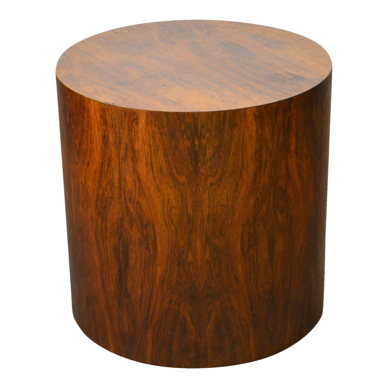 milo baughman mid century modern round rosewood cylinder drum side table accent chairish black lacquer marble top console home lamps quality build your own end metal garden