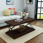 milo industrial finished faux wood coffee table with black iron accent accents wingback chair ikea file box headboard lights balcony and chairs wicker french round side pottery 150x150