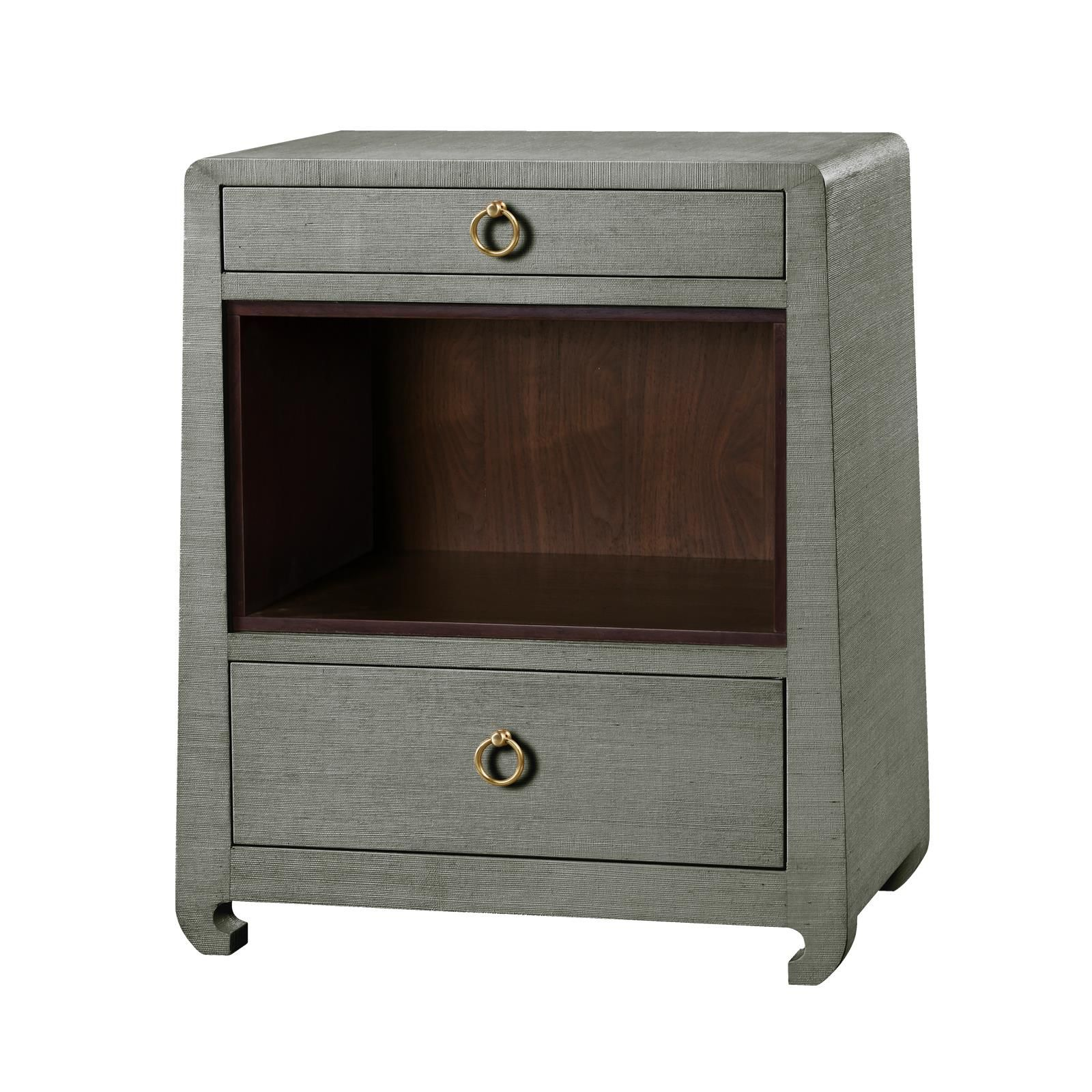 ming drawer side table sage green bungalow tables accent kmart desk lamp wicker set counter height trestle dining cement furniture west elm armchair narrow entryway cabinet