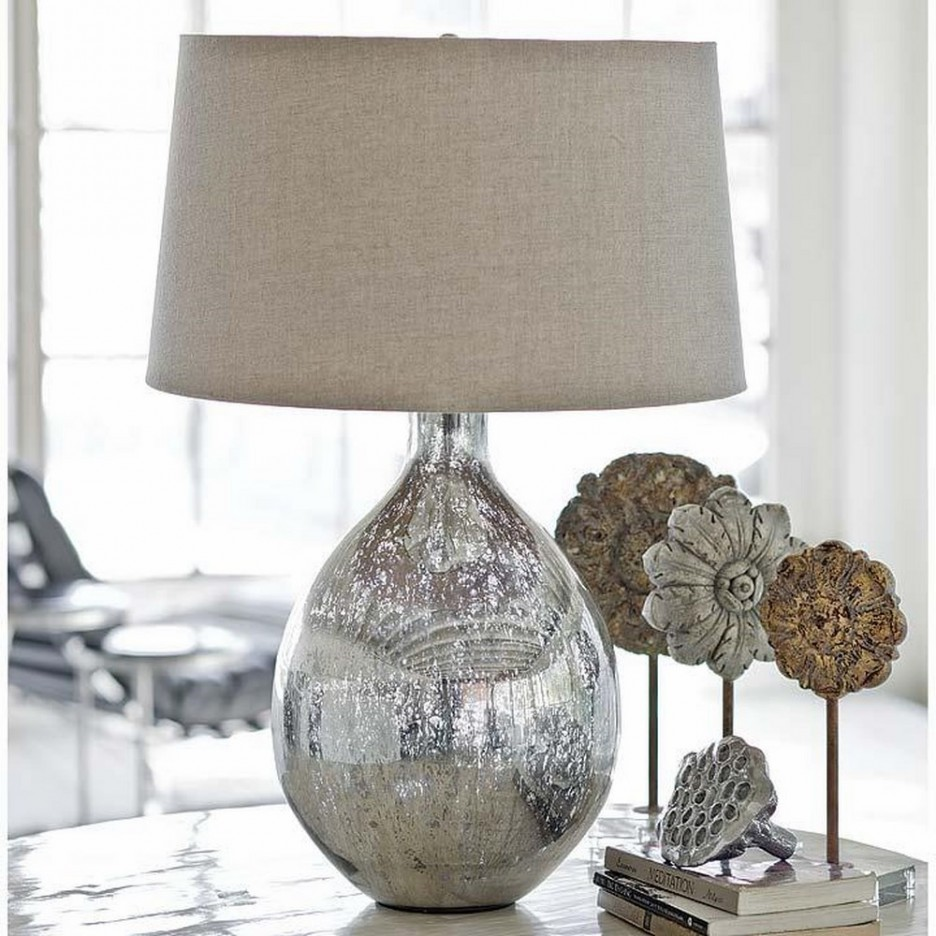 mini accent lamps led lights tiffany submersible table lamp home living room end silver glitter base soft burlap shade simple glass full size round drum side narrow decorative