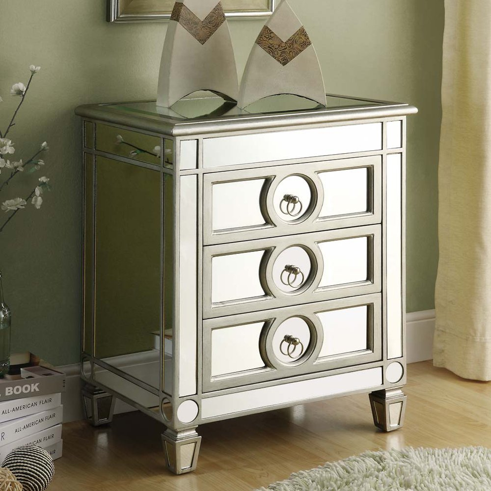 mini interior with mirrored drawer accent nightstand and light maple hardwood flooring satin nickel ring pulls white area rugs table target originalviews lamp design narrow