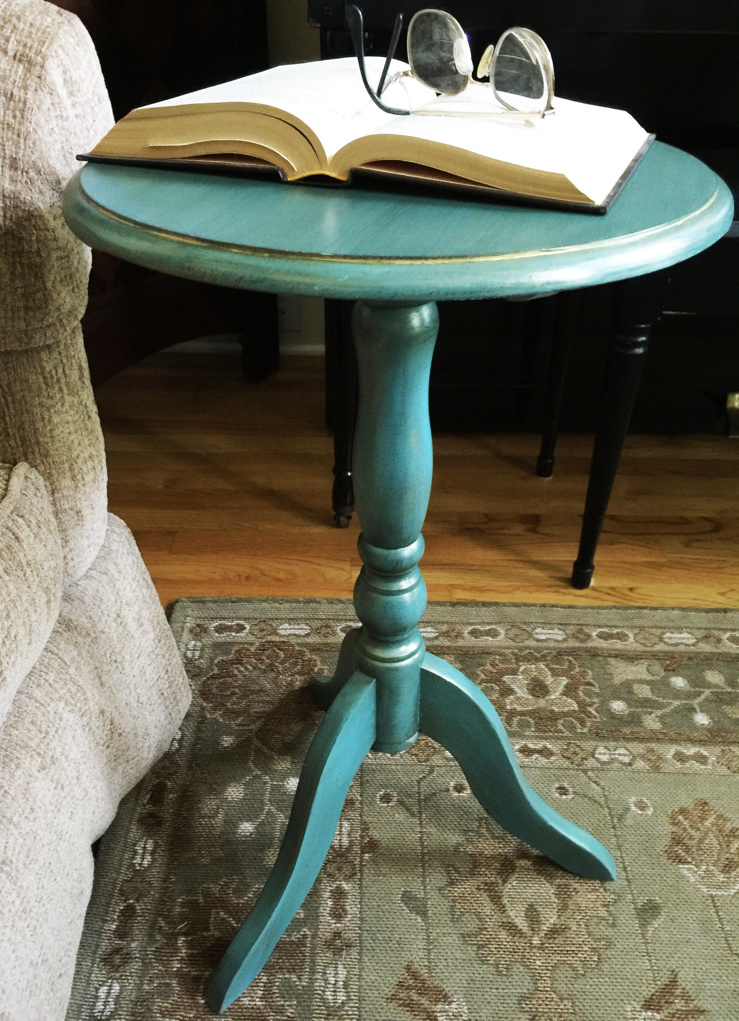minute side table makeover and frugal mommas linky painting painted metal accent using metallic cream paint sponsored country chic thechelseaproject furniture white drum unique