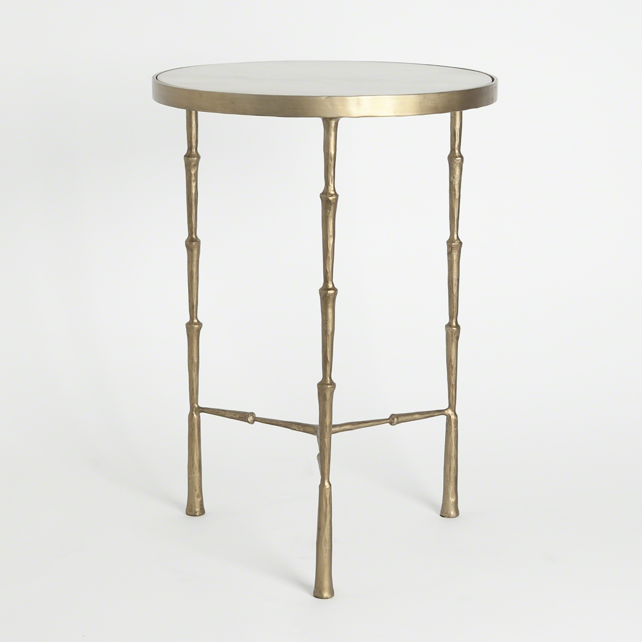 mira accent table white marble and bronze spike solid pine furniture round side cover small black bedside acrylic with shelf vintage oriental lamps coffee legs corner dining room