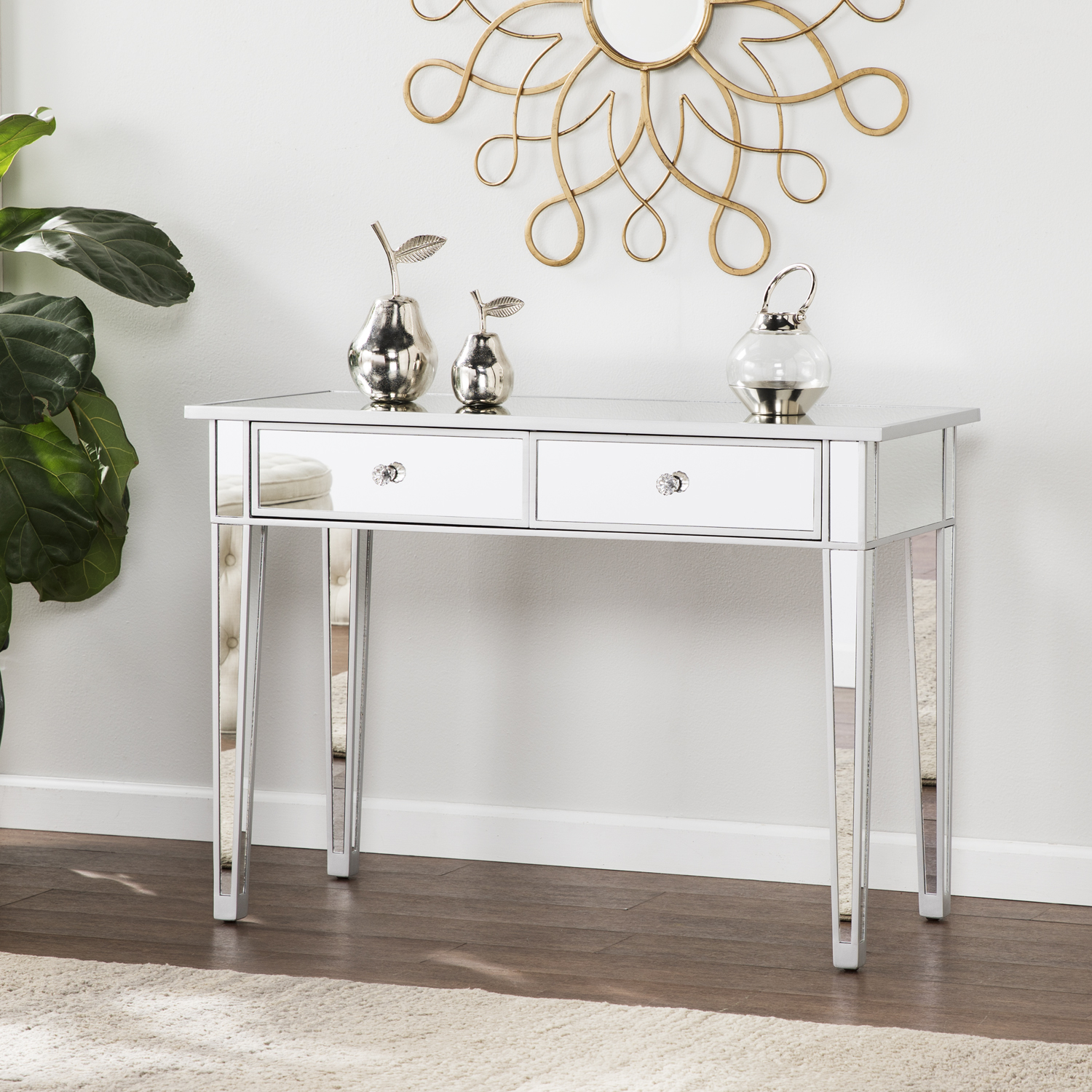 mirage mirrored drawer console table accent dorm room ping ikea round glass coffee oriental style lamps bathroom clock contemporary armchair mini rectangular patio umbrellas