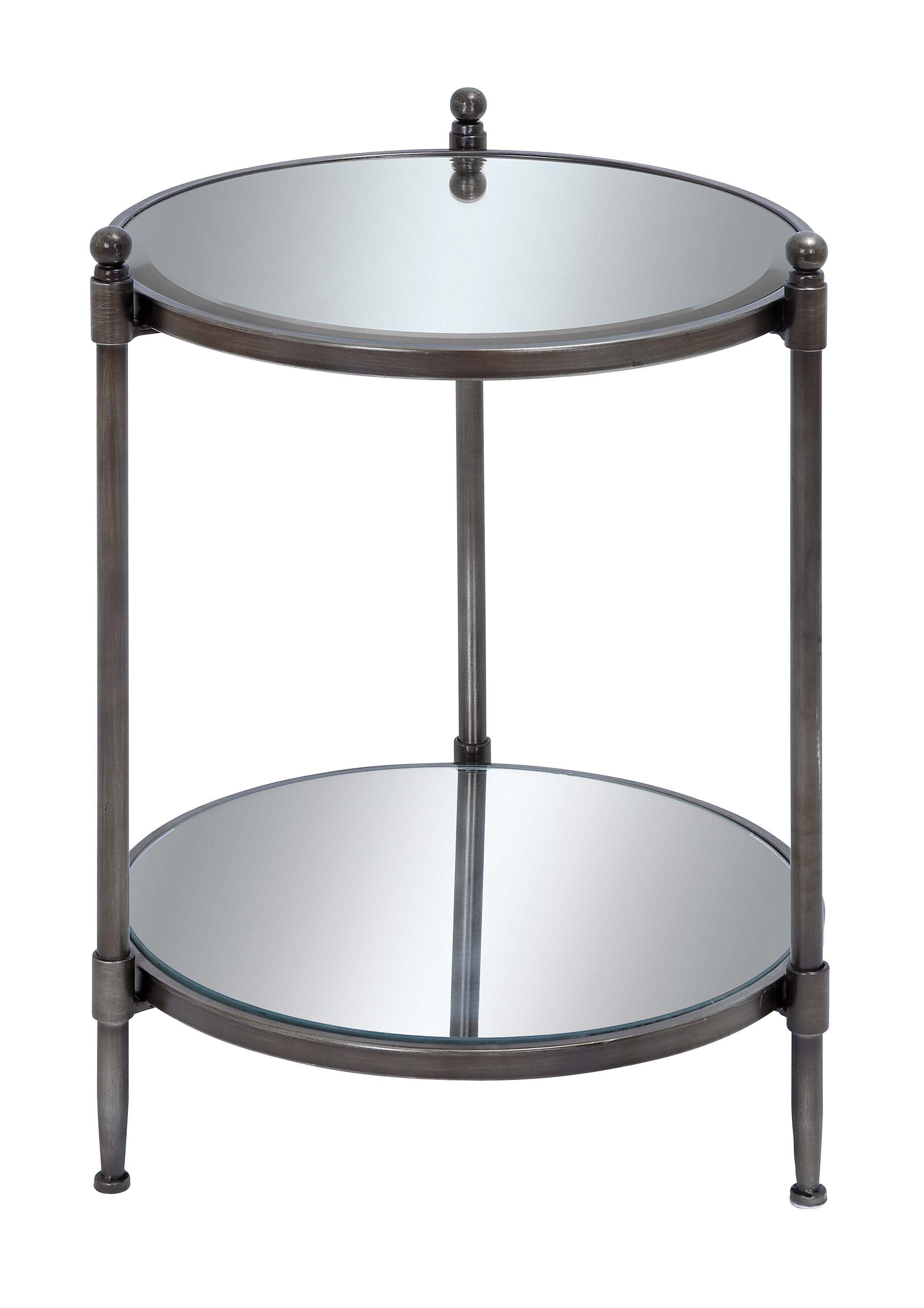 mirror accent table with metal framework products mirrored glass amish made furniture iron coffee changing dimensions modern designs rustic kitchen tables patio umbrella bellevue