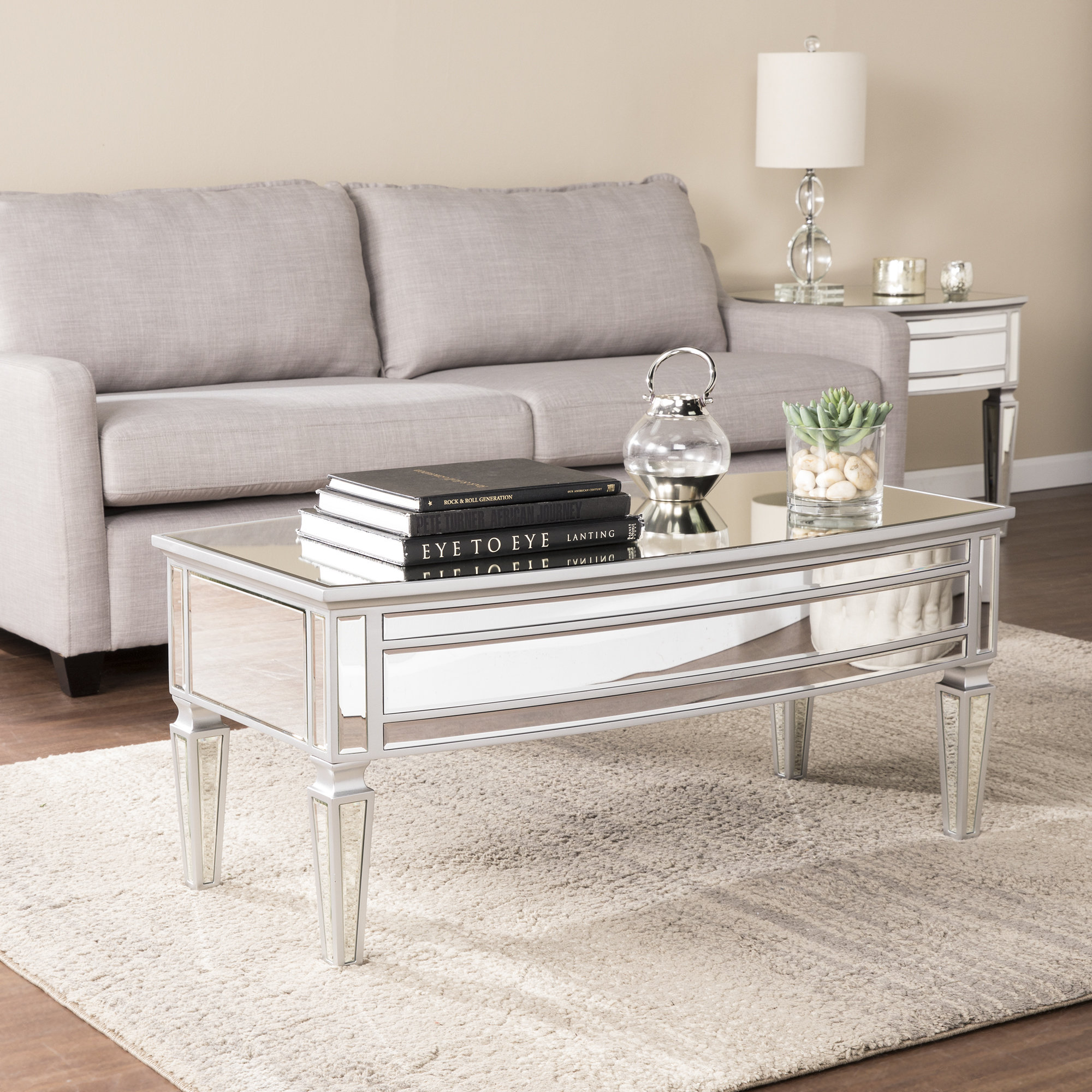 mirror coffee table sets you love elosie piece set diamond mirrored accent asian inspired lamps modern wooden designs light colored wood end tables round cymbal stand west elm