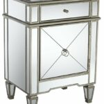 mirror nightstand the guide hollywood mirrored accent table high kitchen and chairs kids corner desk bar height outdoor ashley furniture glass modern solid oak door thresholds pub 150x150