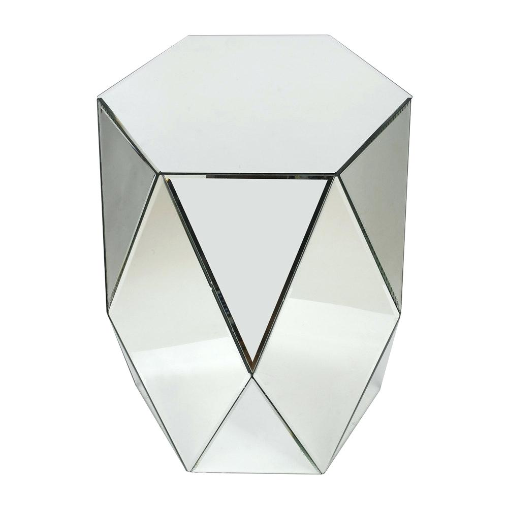 mirrored accent end table ave six threshold home geometric with drawer target xmas dinner ideas leather top ashley usb wedding centerpiece floor lamp mersman side glass set marble