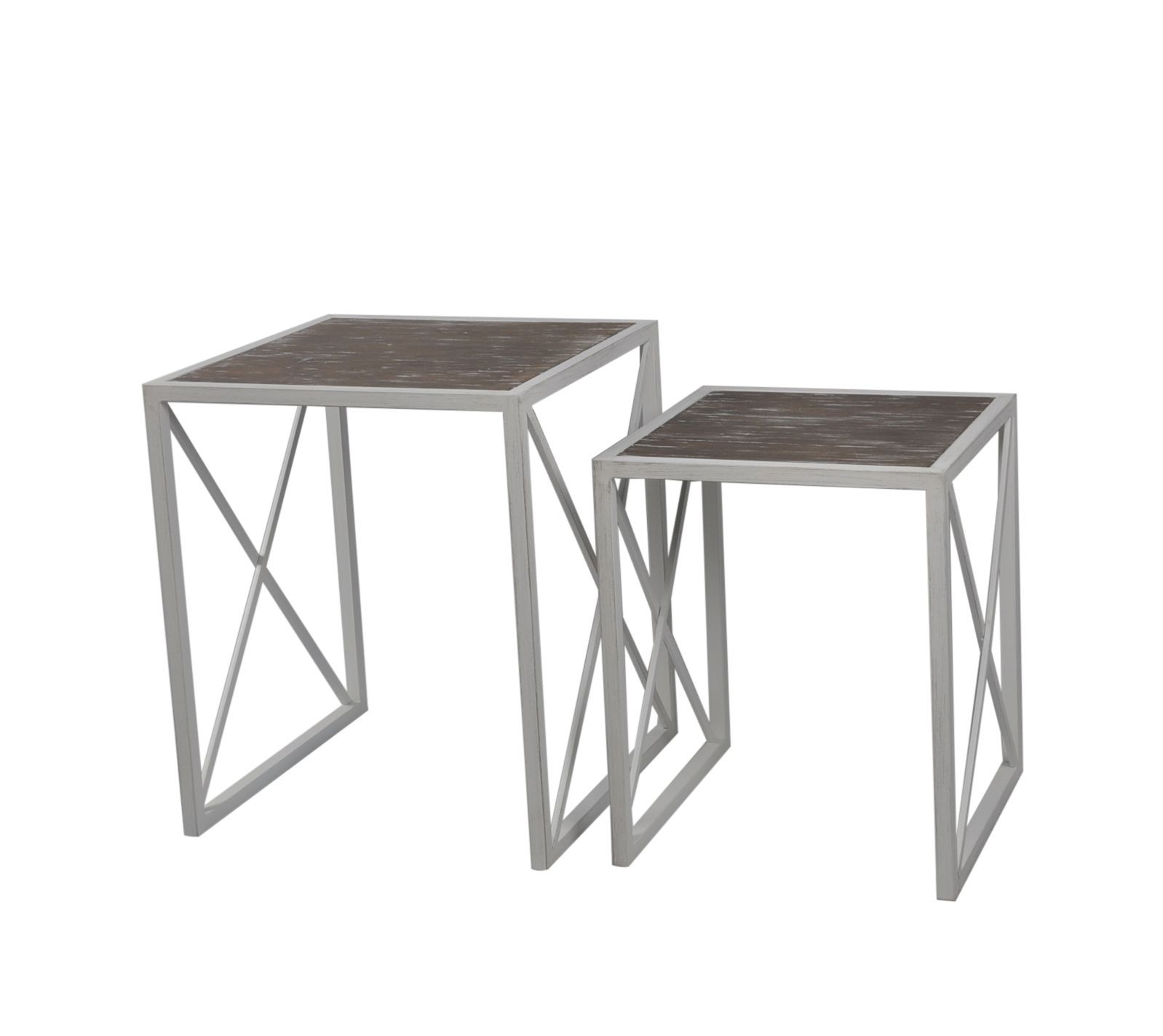 mirrored accent table awesome aps set two nested metal tables lamps per black white coffee with shelf tiffany style snack ikea outside furniture inexpensive end modern occasional