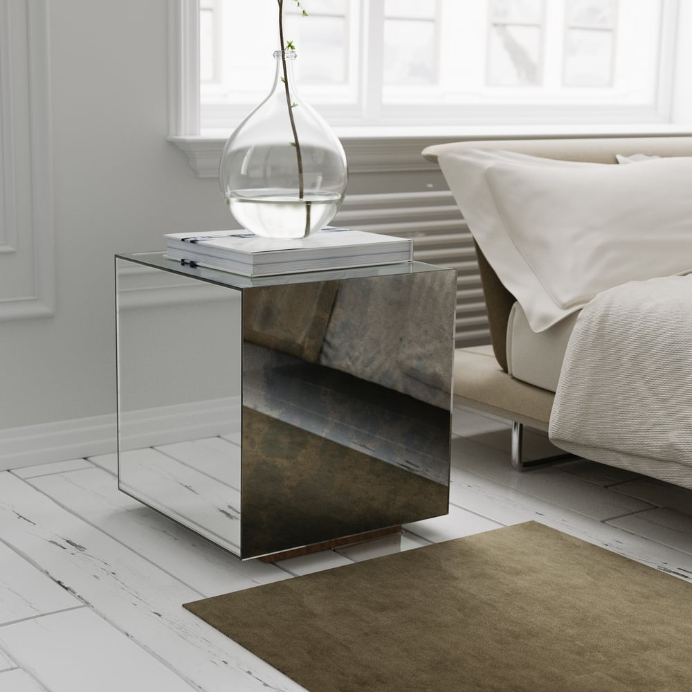 mirrored accent table modern jherievans end with mirror antique coffee lamp storage outdoor beer cooler round and sets blow mattress target cream dining white bedside tables kmart
