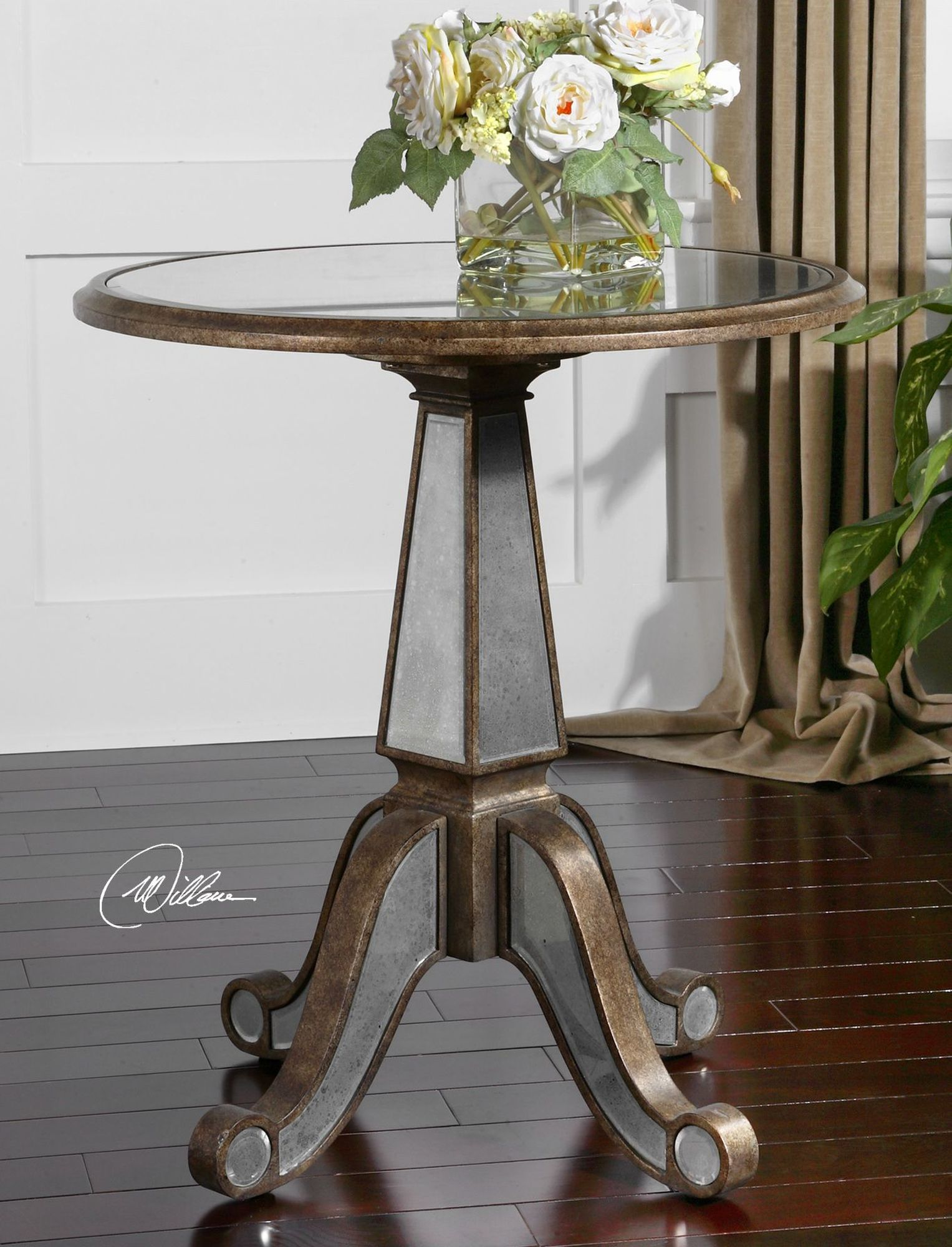 mirrored accent table rustic gold mathis brothers furniture pier one wine rack long skinny coffee plastic garden sets west elm wood console kitchen end tables teal chalk paint