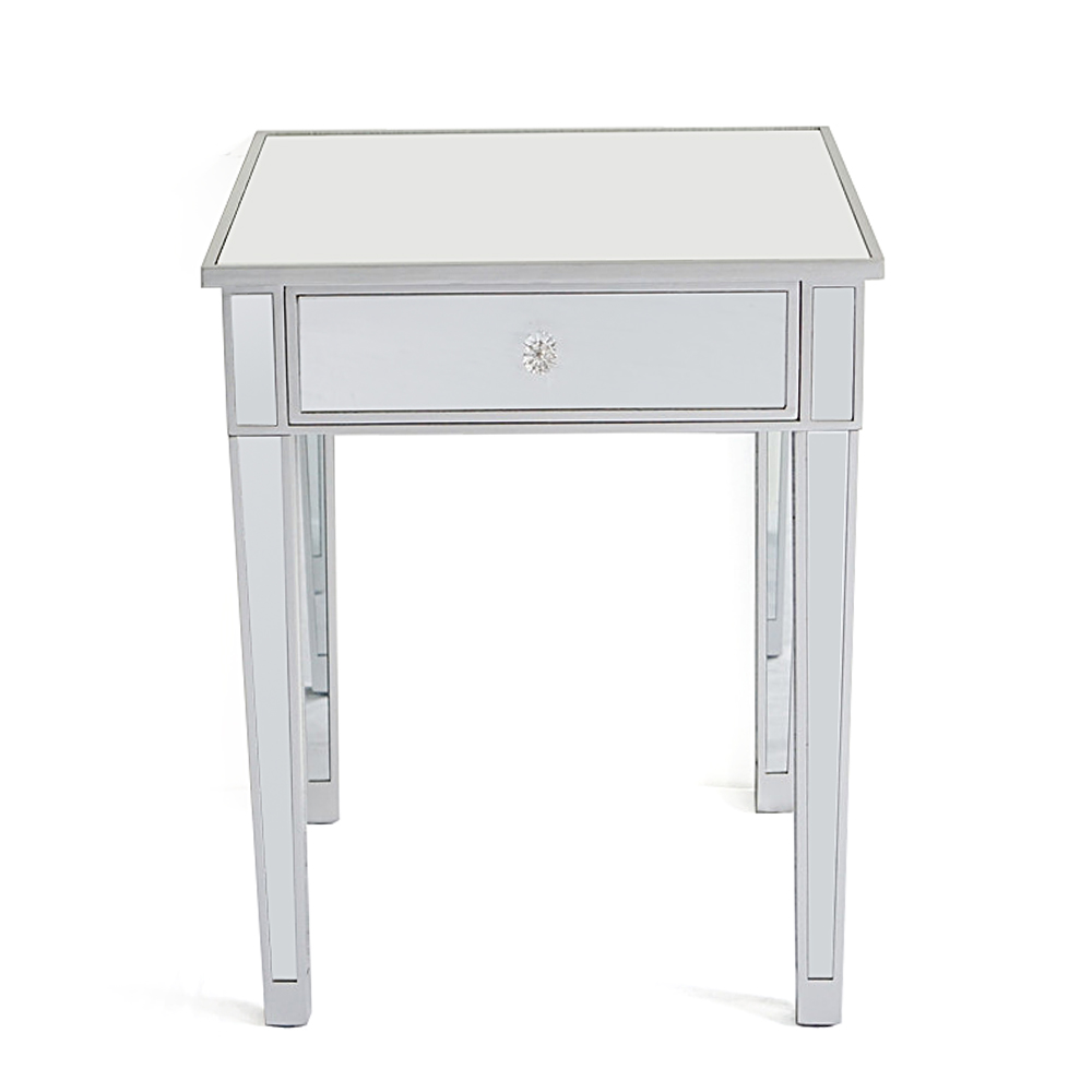 mirrored accent table sofa end nightstand bedside inch console ikea coffee and side tables big lots daybed drop leaf folding tablecloth for rectangle pottery barn legs two nesting