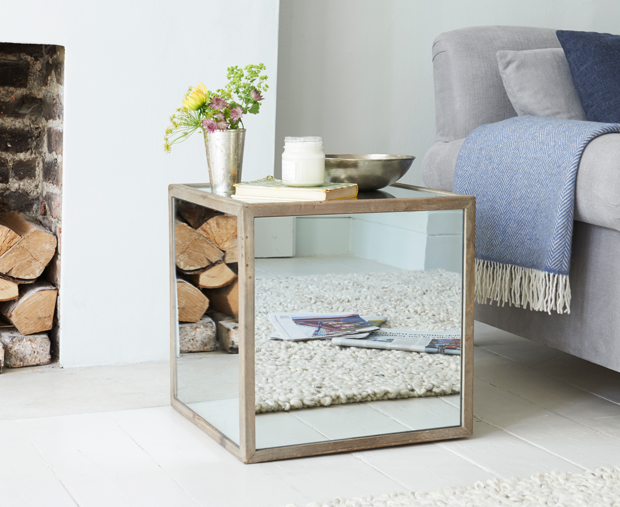 mirrored accent table square gretabean replica furniture silver tray marble and wood side gray nautical bathroom ideas timber brisbane round cherry resin patio with umbrella hole