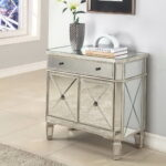 mirrored accent table storage elegant home design metal with drawers hall decor simple side plans ashley set ikea small kitchen and chairs pottery barn dining short blue mosaic 150x150