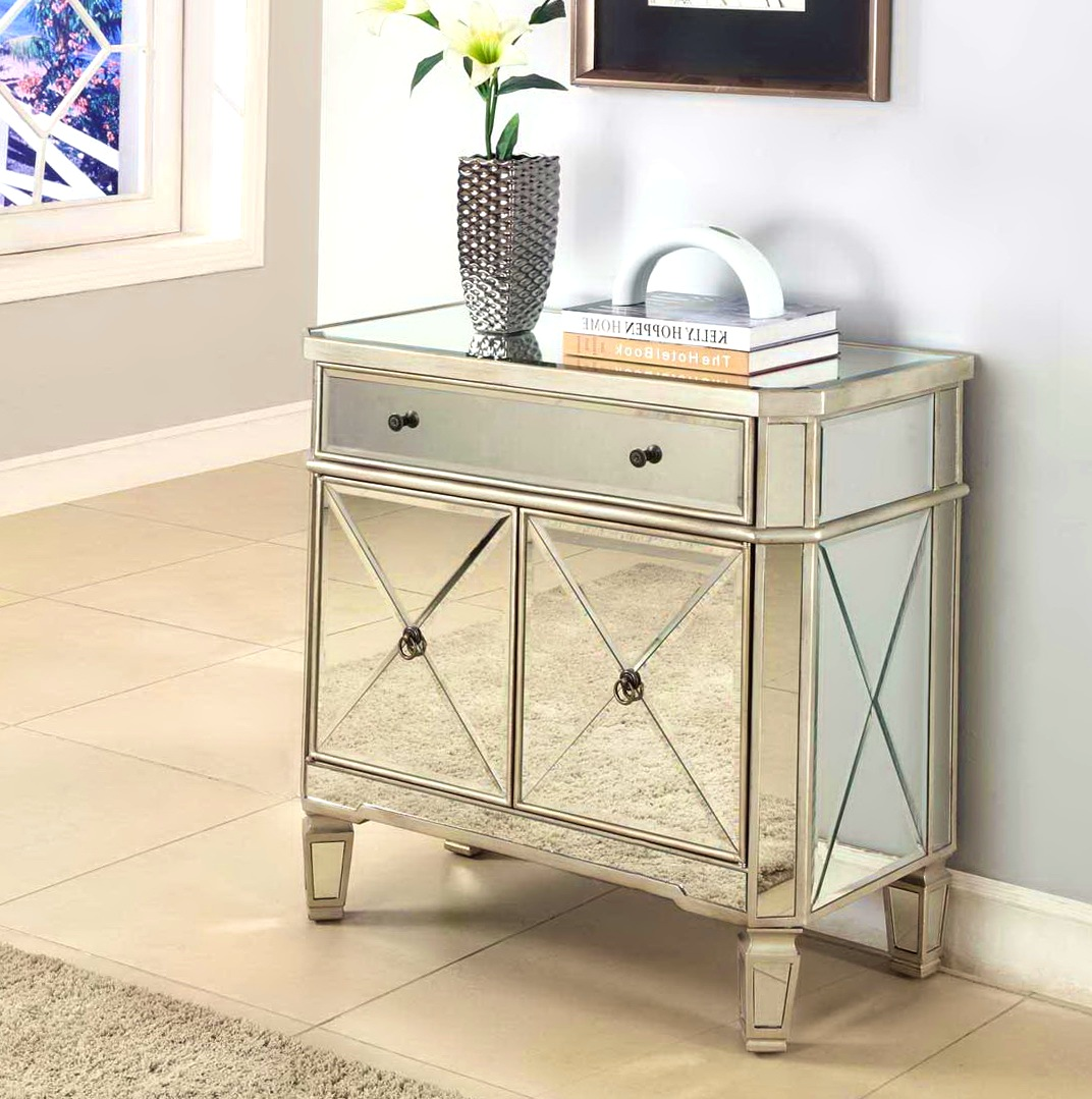 mirrored accent table with decorating kitchen captivating drawer home design mirage stained glass floor lamp shades contemporary armchair antique spindle leg side inch legs tall