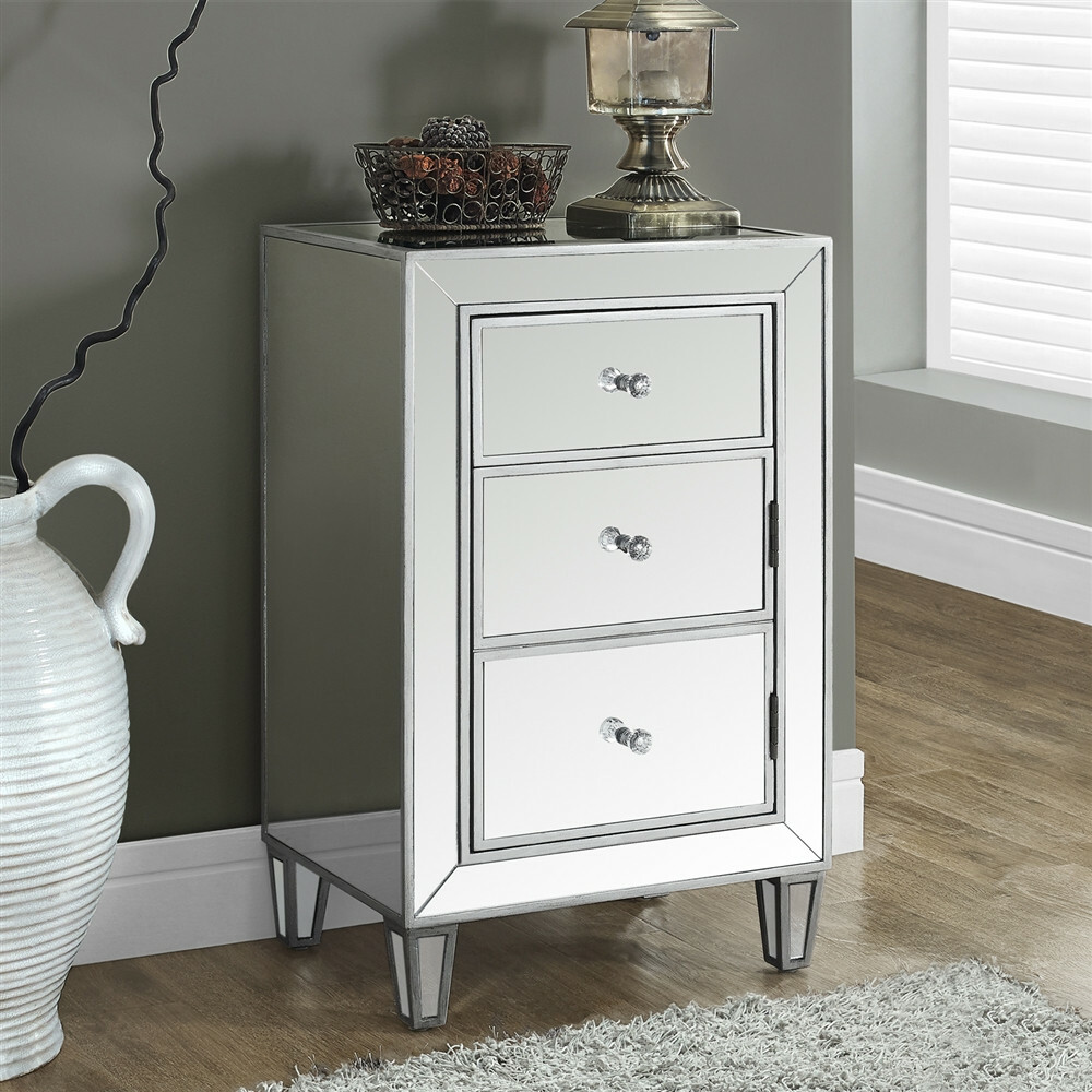 mirrored accent table with drawer avalon master pro uttermost laton pallet coffee and end tables silver entryway cloth marble iron small chest drawers black dining room couch