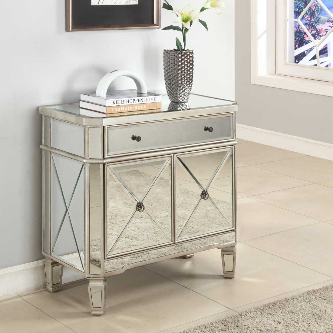 mirrored accent table with drawer cairocitizen collection how end mirror decorate small rustic tables lift coffee blow mattress target living room sets clear acrylic furniture