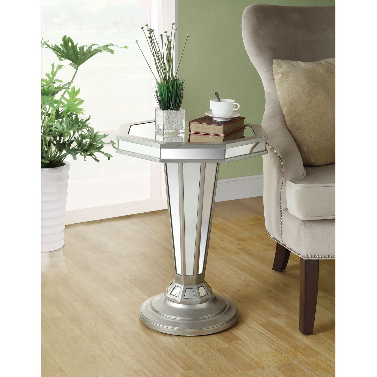 mirrored accent table with drawer collection inch octagon shape pedestal free west elm shipping coupon code wicker patio furniture sets rattan and chairs marble living room