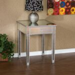 mirrored accent table with drawer house decorations very attractive design mirage kitchen dining nightstand home furniture restoration office storage cabinets craigslist chairs 150x150
