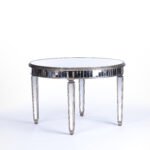 mirrored furniture rental encore events rentals round table accent tables small vintage console christmas runner pattern dining room sets target cocktail half moon cabinet light 150x150
