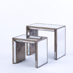 mirrored furniture rental encore events rentals table accent tables corner bedside white entrance small concrete west elm stools fancy tablecloths seahorse lamp circular outdoor 150x150