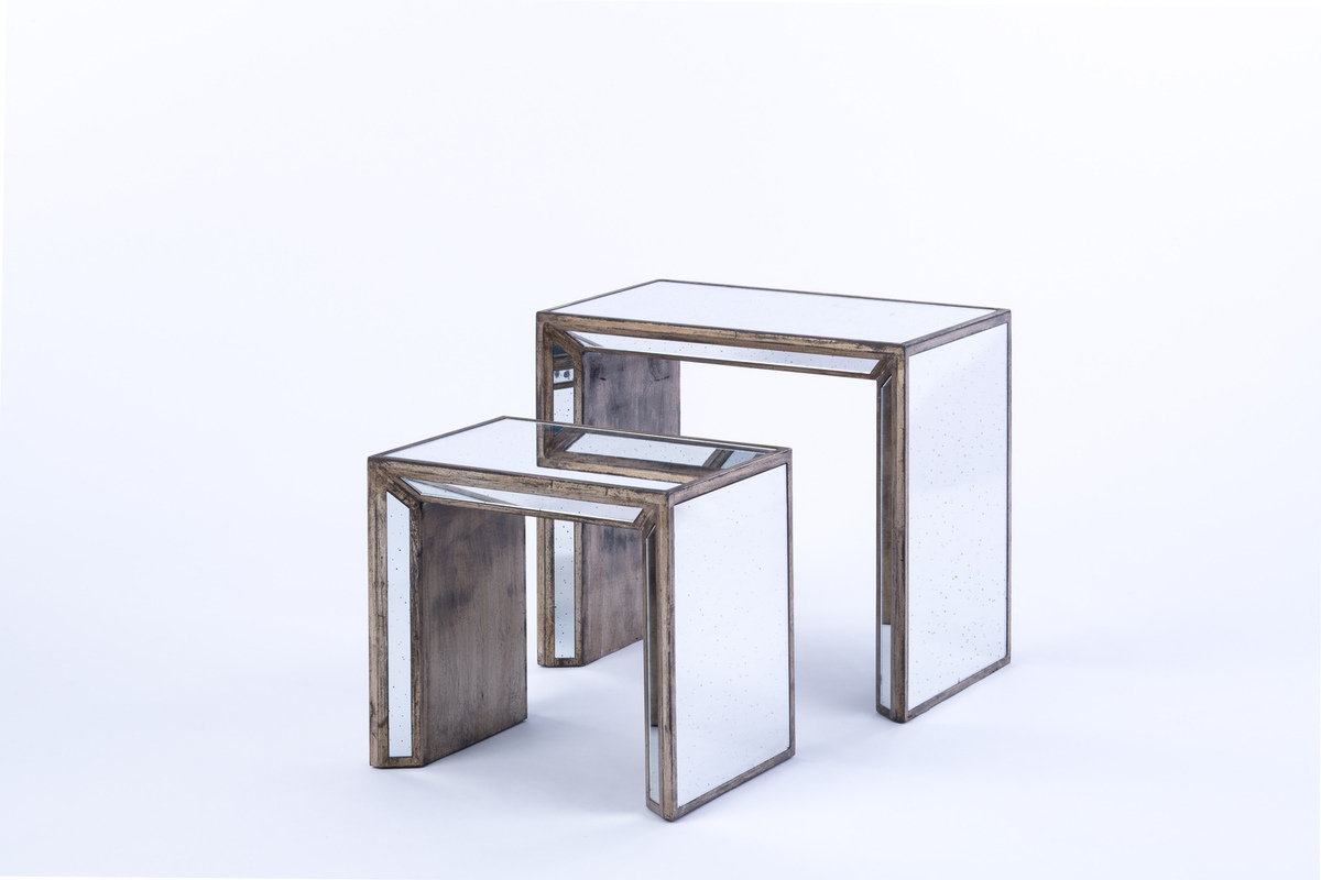 mirrored furniture rental encore events rentals table accent tables corner bedside white entrance small concrete west elm stools fancy tablecloths seahorse lamp circular outdoor