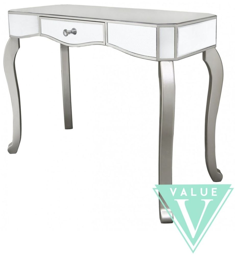 mirrored sofa table furniture console with drawers leather accent nightstand home goods bedroom tables full size off white distressed end umbrella round drum side stained glass